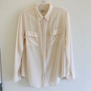 Madewell front pocket lightweight button shirt M